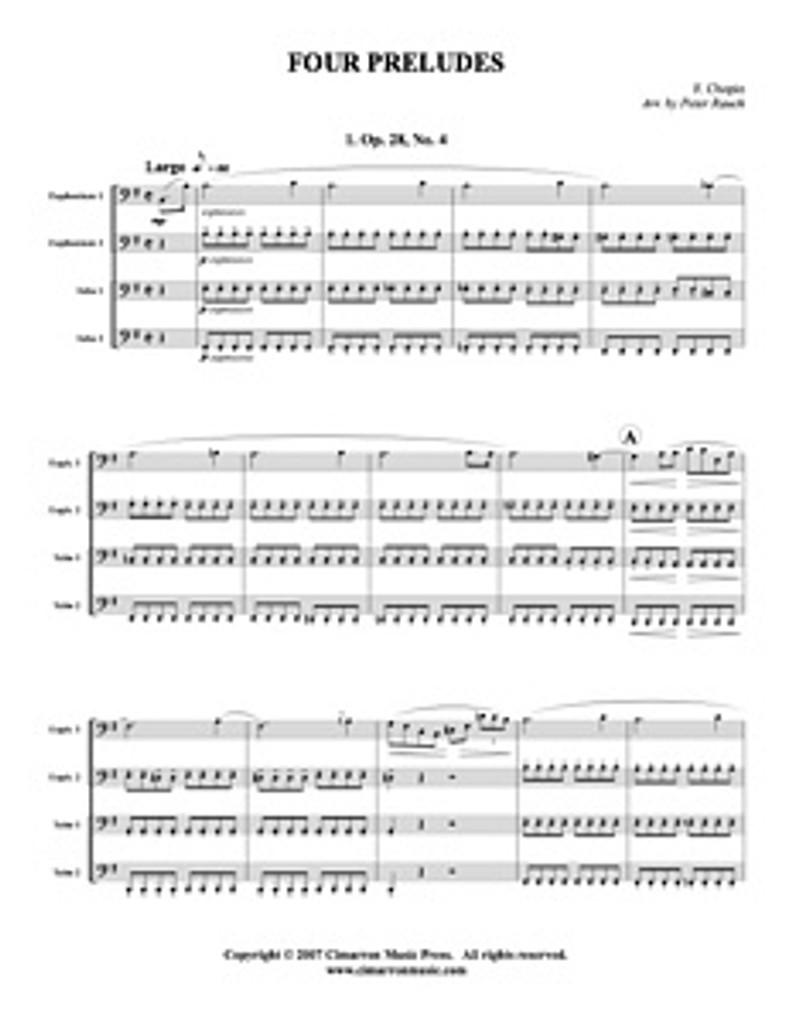 Four Preludes (Tuba Quartet) (Download) (Download)