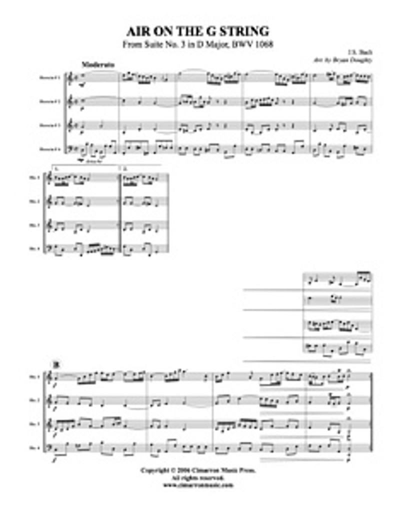 Air on the G String (Hown Quartet) (Download)