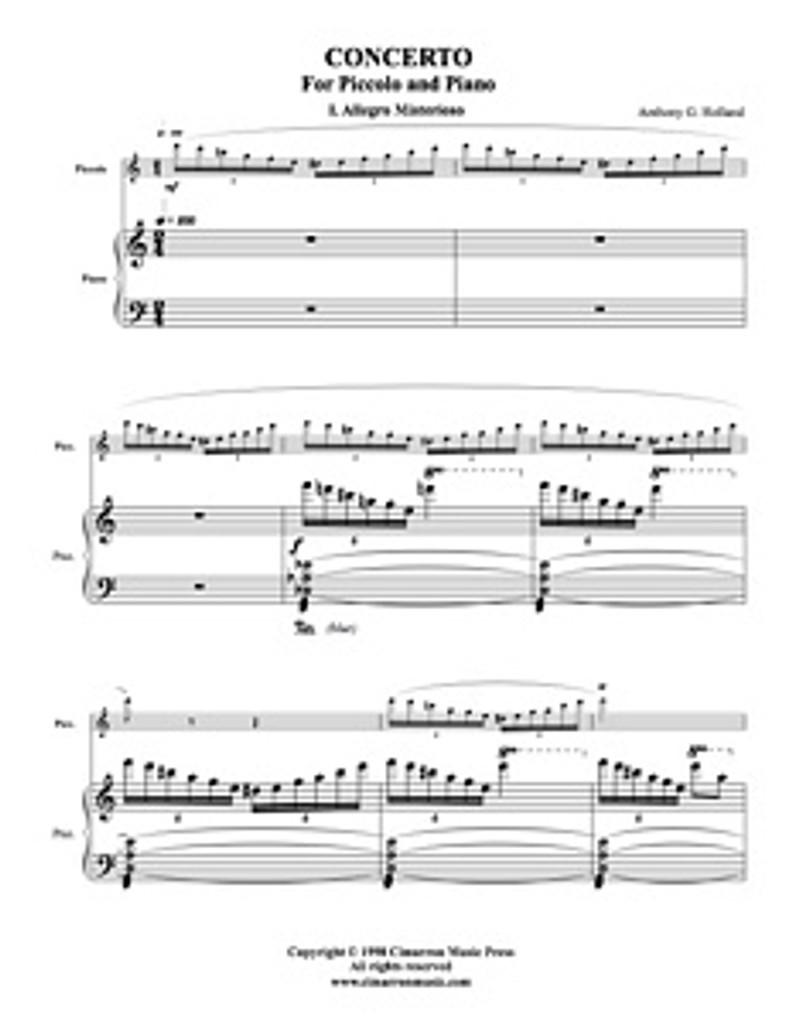 Concerto for Piccolo (Download)