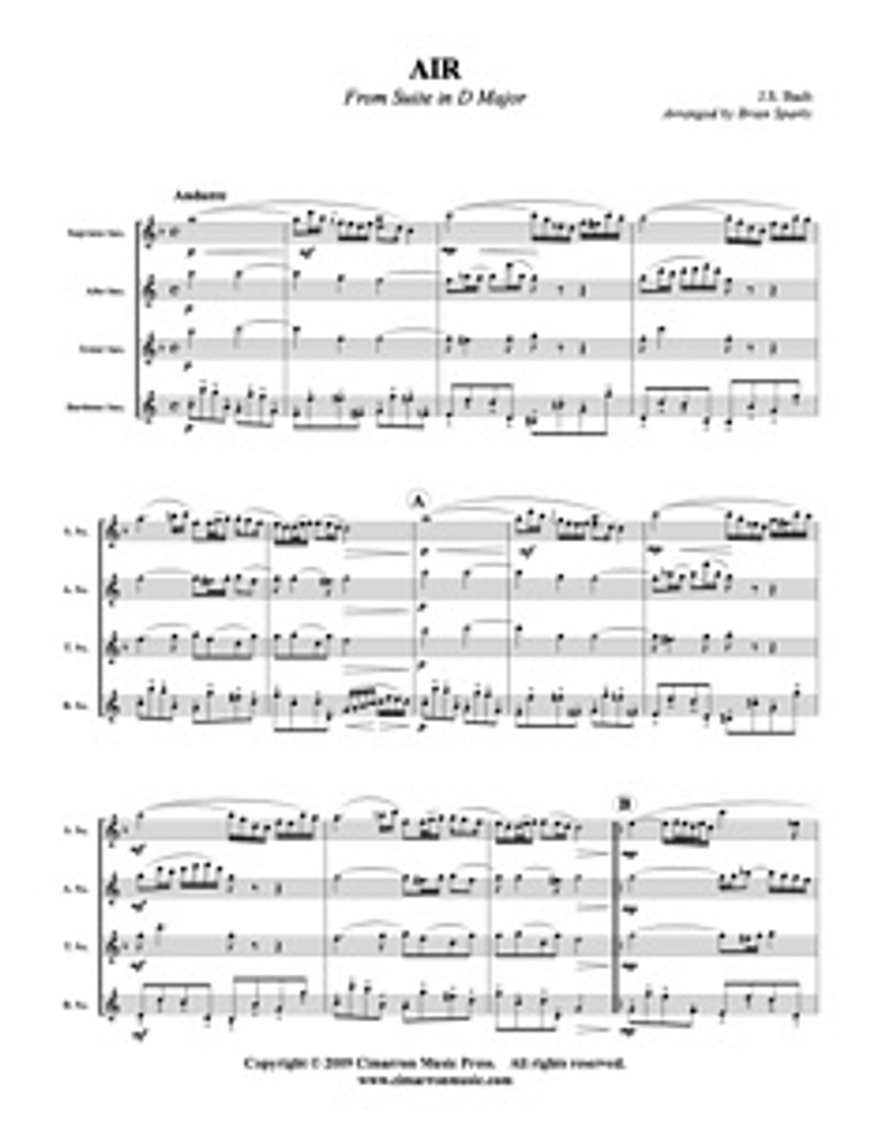 Air from Suite in D Major (Download)
