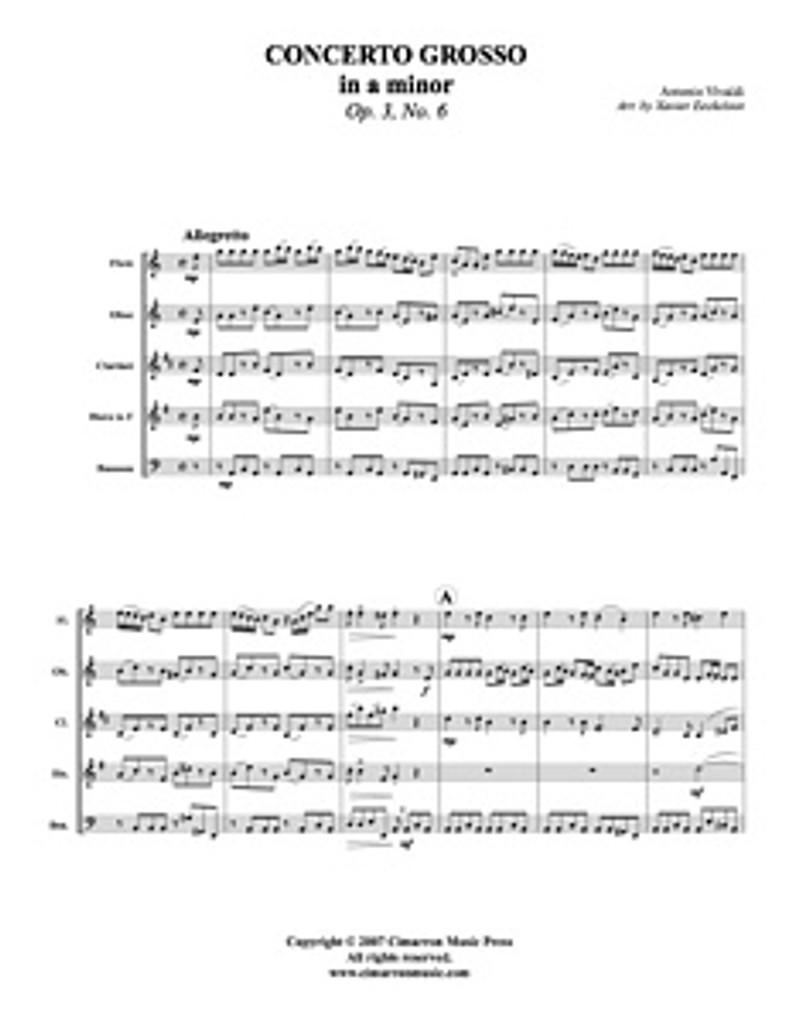 Concerto Grosso in A Minor (Download)