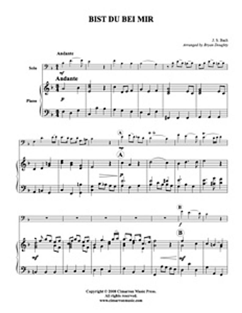 Bist Du Bei Mir At Euphonium Solo Download