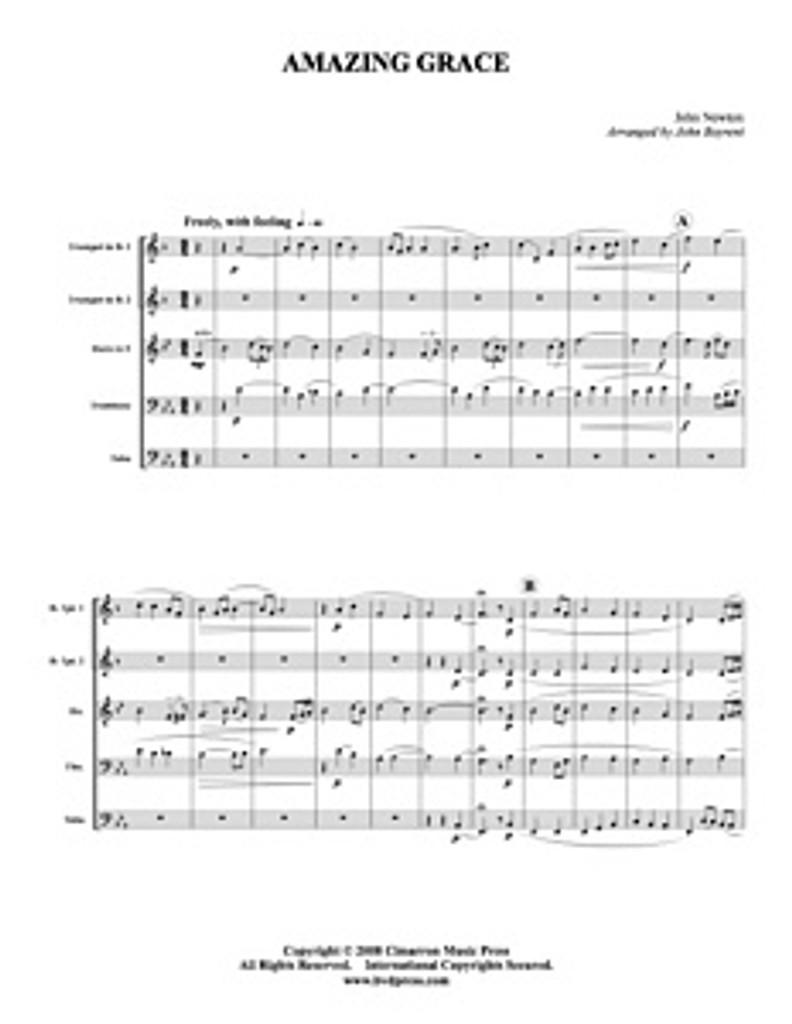 Amazing Grace (Brass Quintet) (Download)