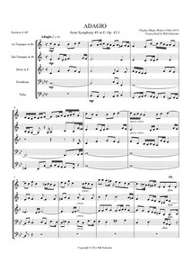 ADAGIO FROM ORGAN SYMPHONY #5 (brass quintet)
