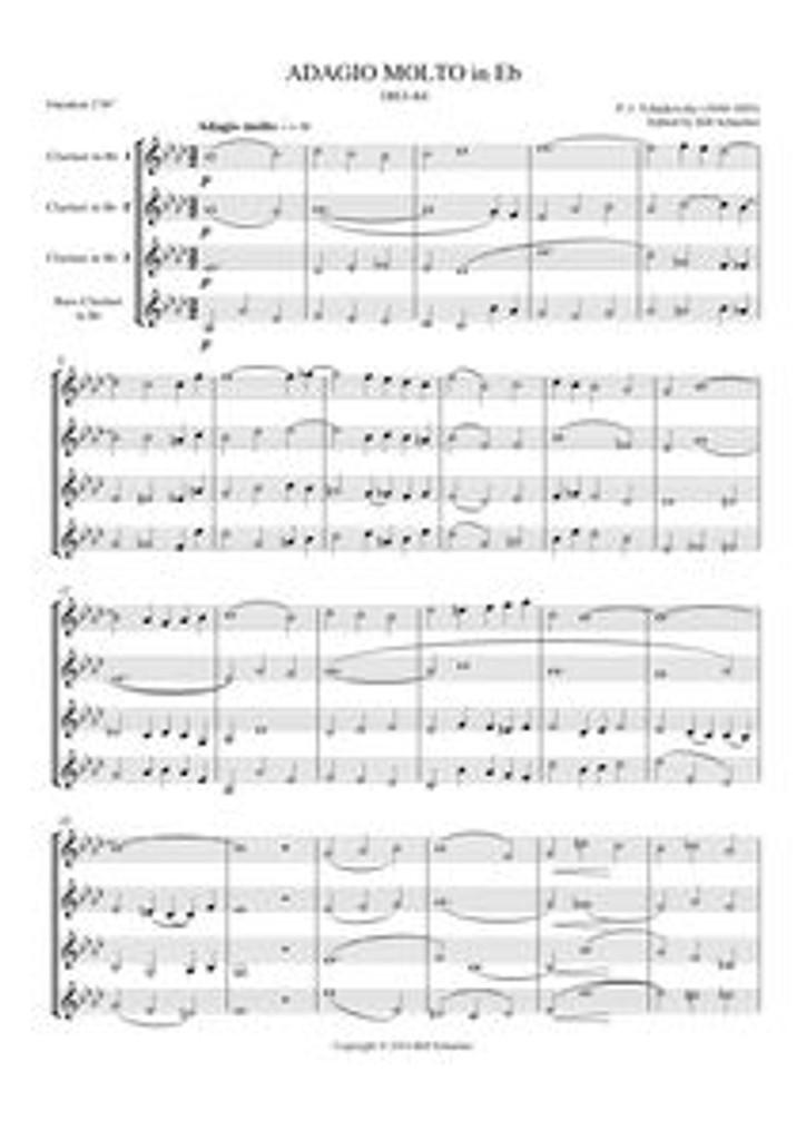 ADAGIO IN Eb (clarinet quartet)