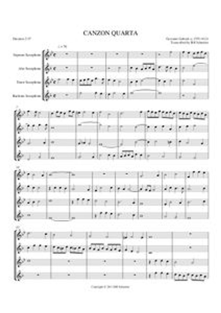 CHERUBIC HYMN (sax quartet) (download)