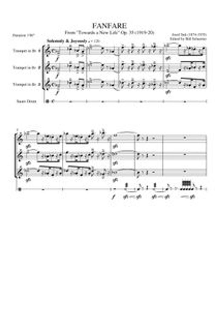 "FANFARE ""TOWARDS A NEW LIFE"" (trumpet trio)"