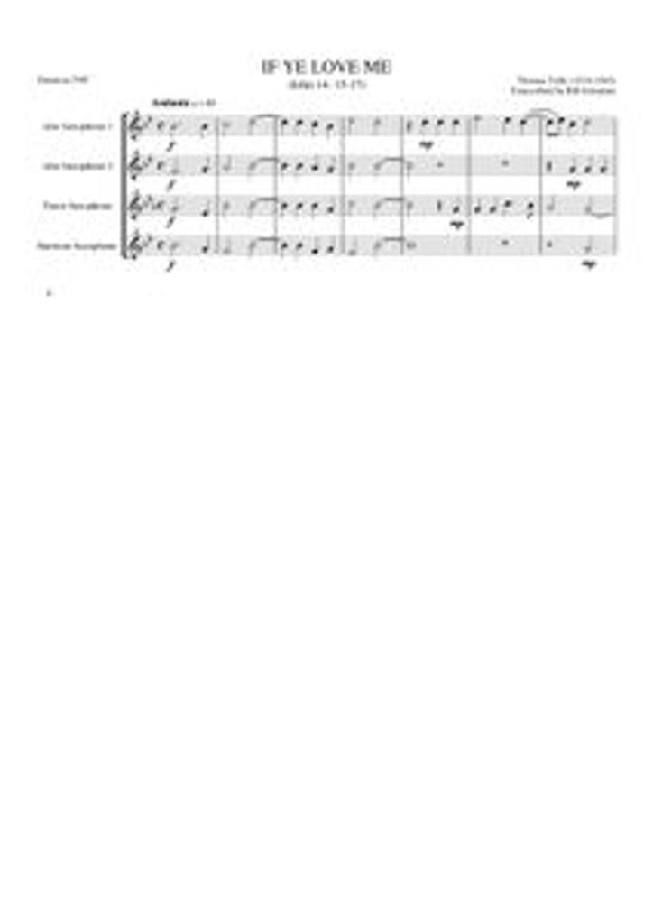 IF YE LOVE ME (sax  quartet) (download)