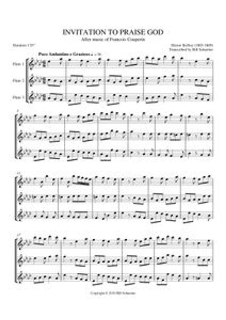 INVITATION TO PRAISE GOD (flute trio) (download)