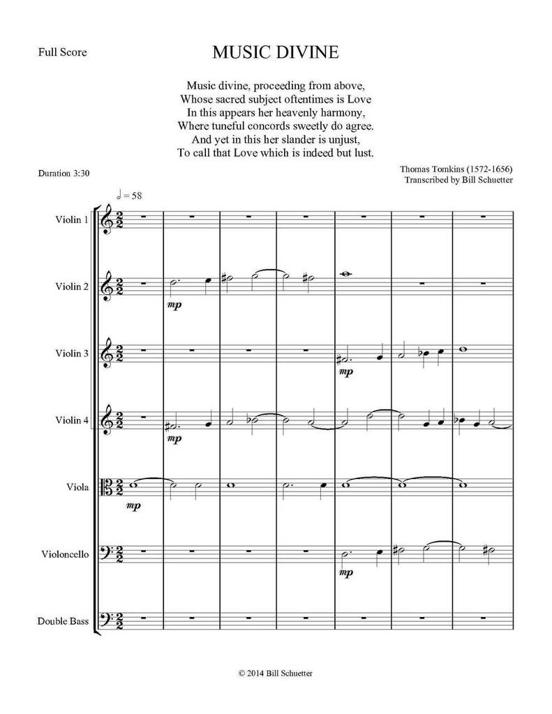 Music Divine (String Septet) (download)