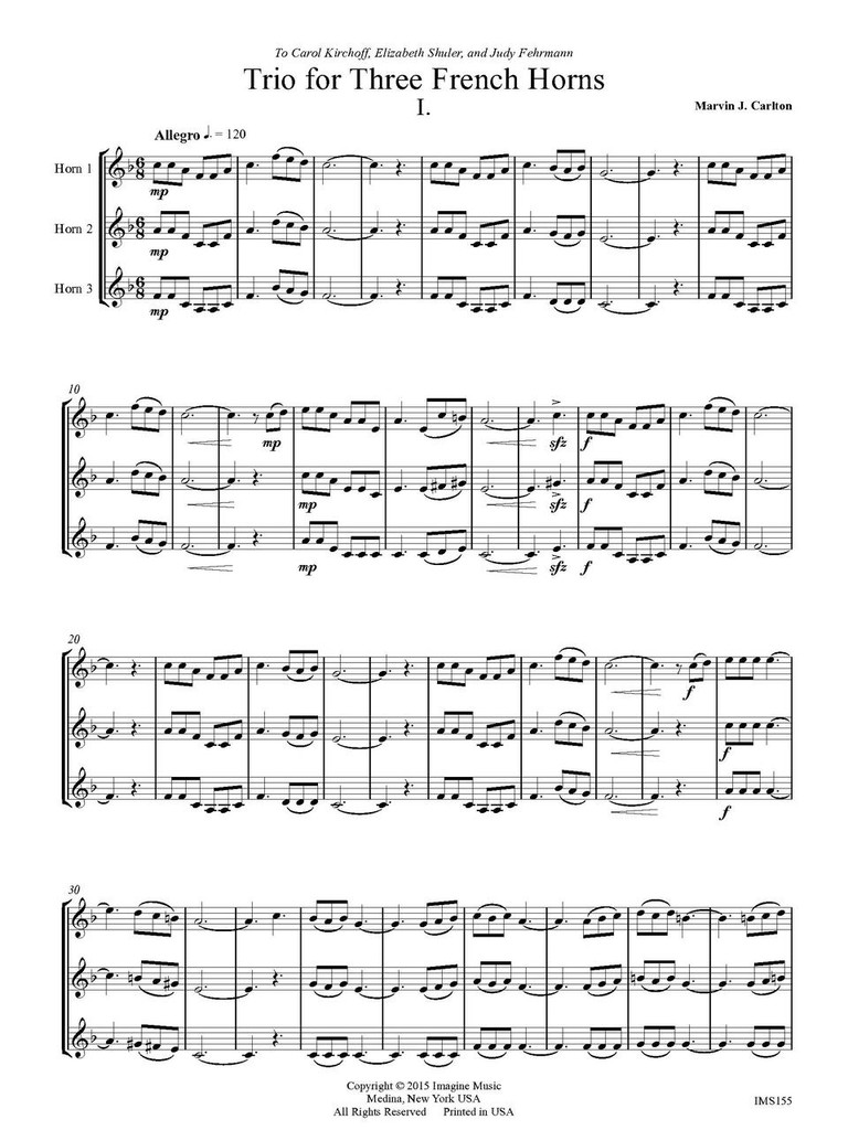 Trio for Three Horns (download)