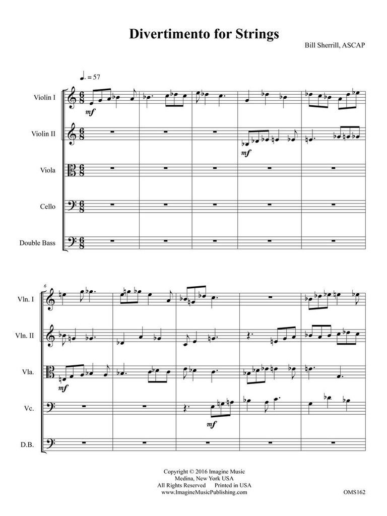 Divertimento (String Orchestra) (download)