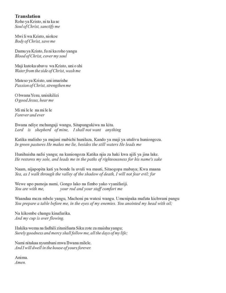 Maombi na Sifa (Prayer and Praise) (INSTRUMENTAL PARTS)