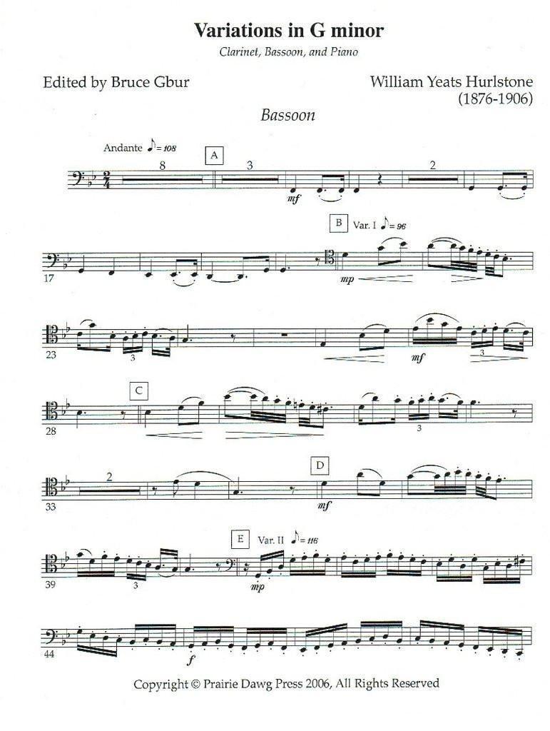 Variations in G minor (download)