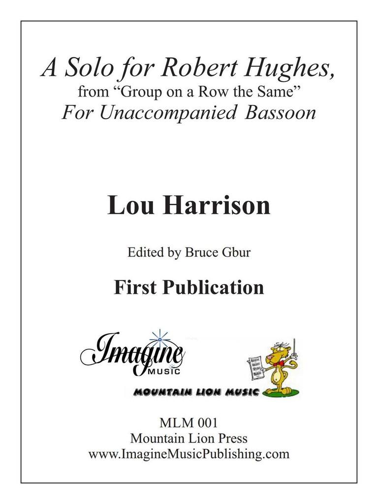 A Solo for Robert Hughes