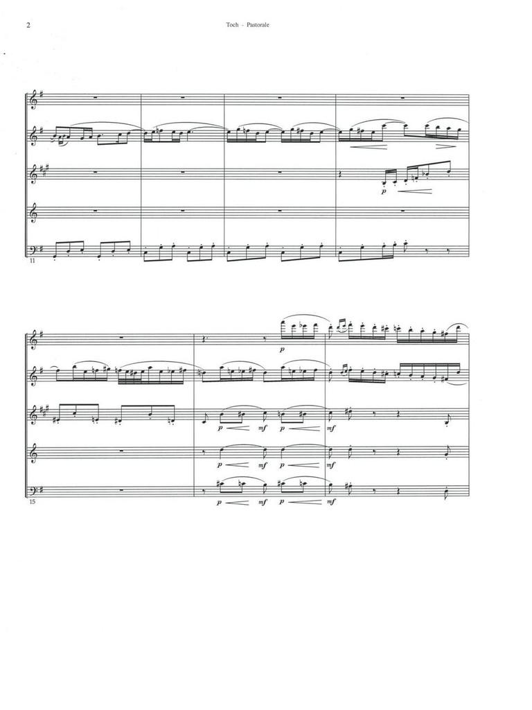 Pastorale (for Wind Quintet)(download)
