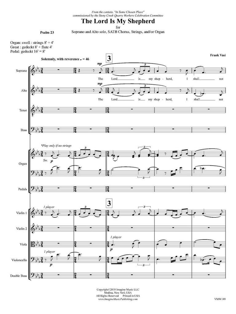 The Lord Is My Shepherd (score) (download)
