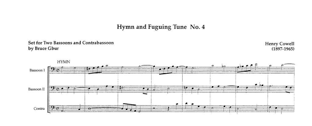 Hymn and Fuguing Tune No. 4