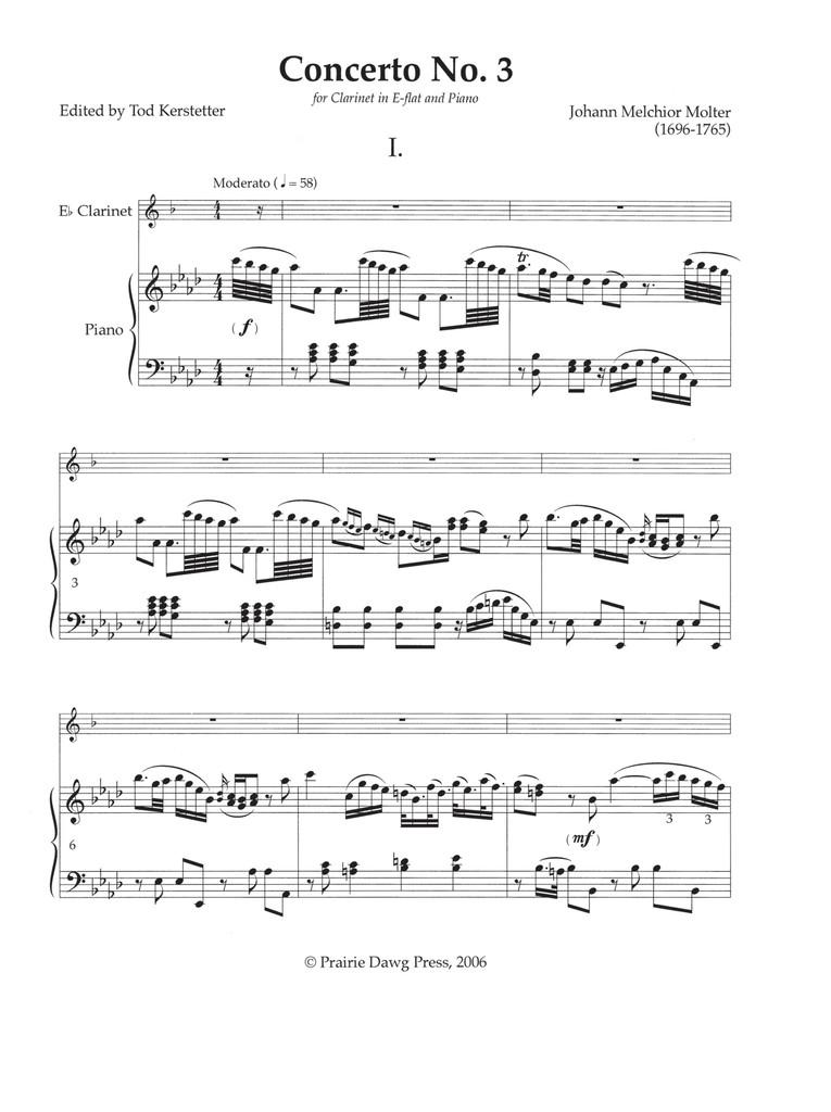 Concerto No. 3 for E-flat Clarinet and Piano
