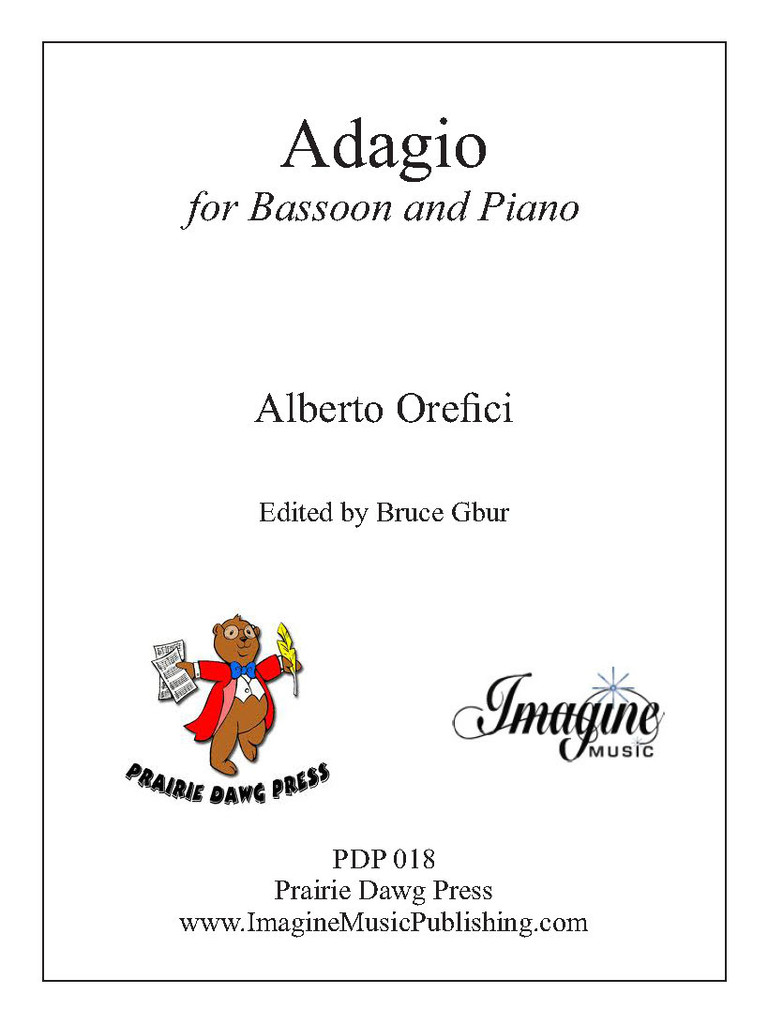 Adagio for Bassoon and Piano (Orefici) (download)
