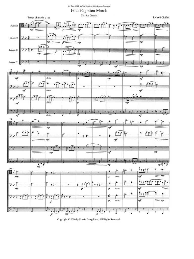Four Fagotten March (download)