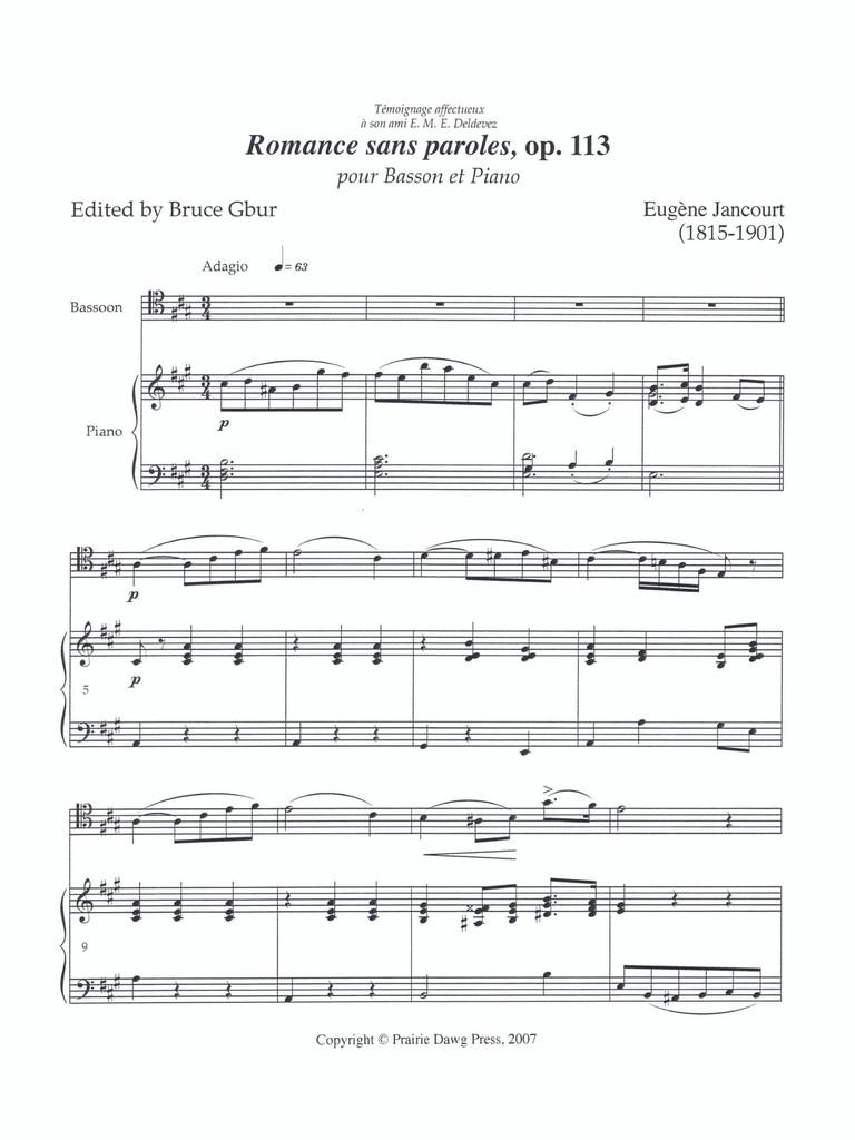Romance sans paroles, op. 113 (download)