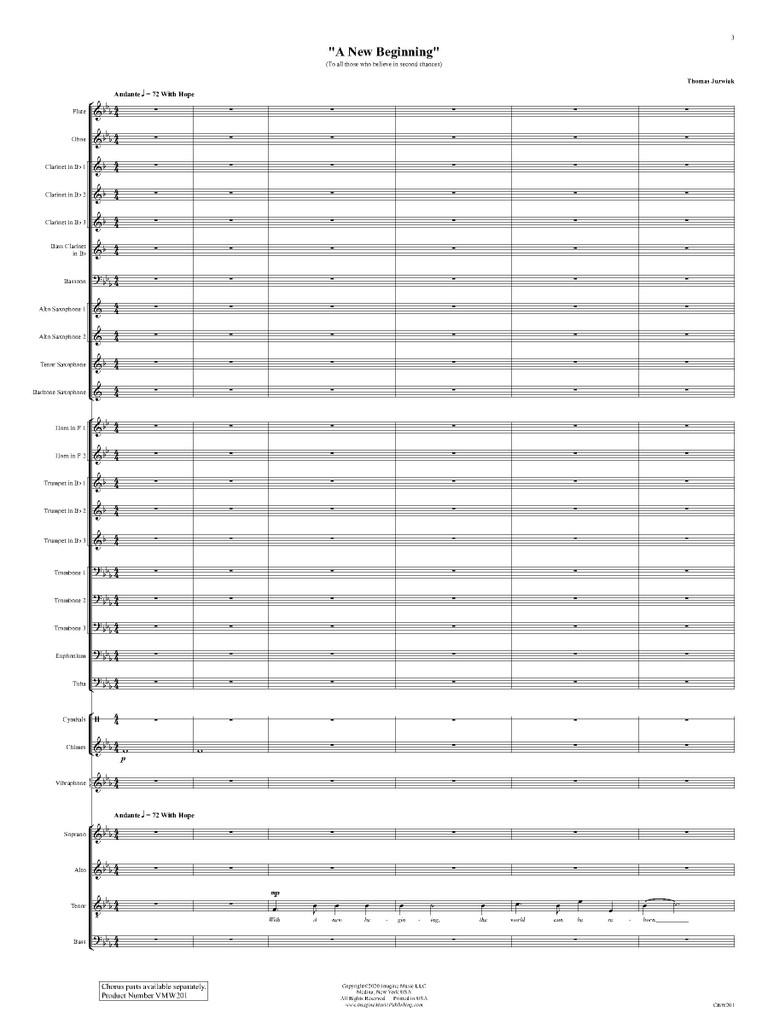A New Beginning (Band & SATB Chorus)