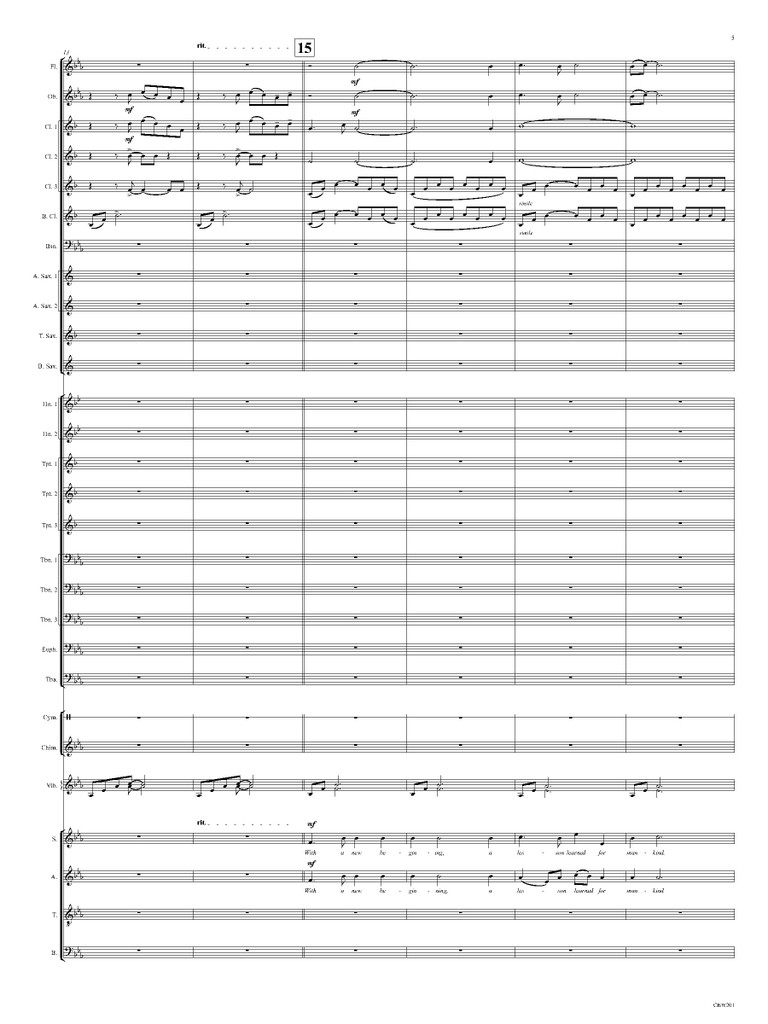 A New Beginning (Band & SATB Chorus)