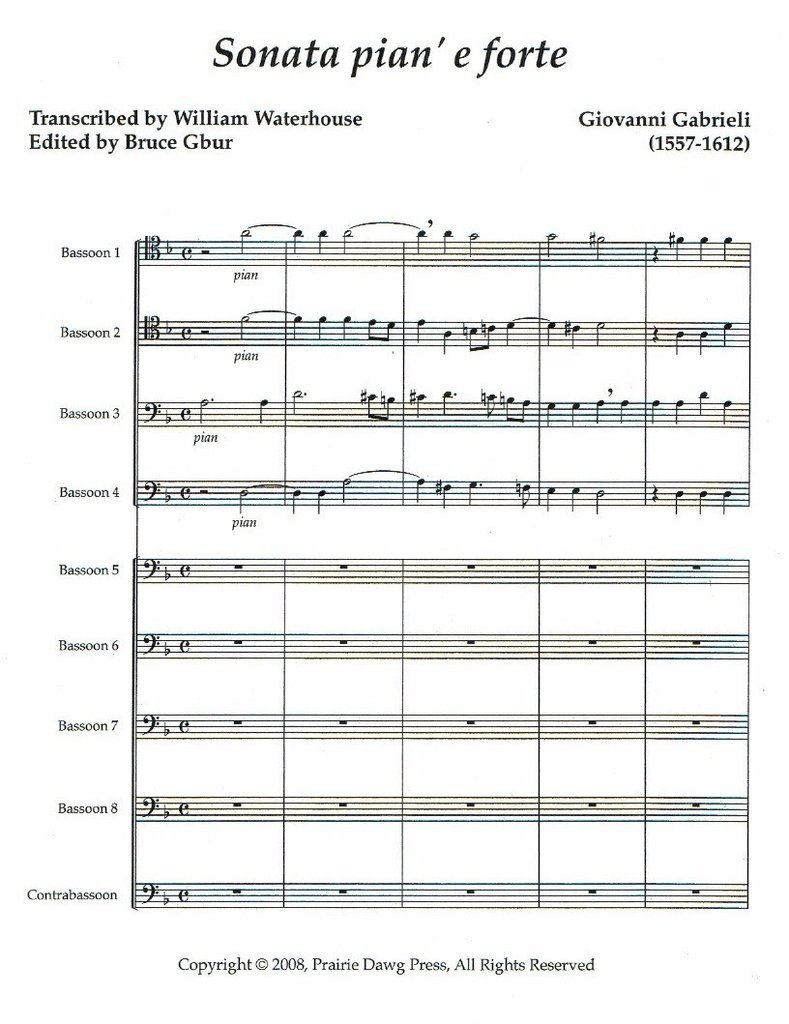 Sonata pian' e forte (Bassoon choir)(download)