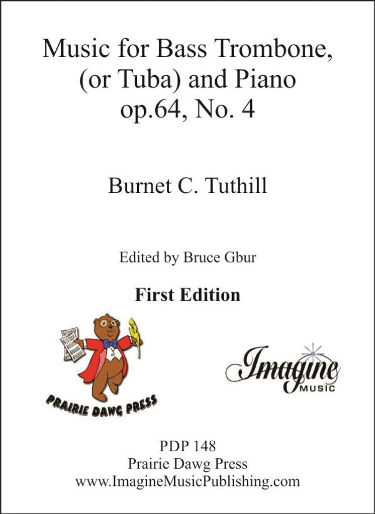 Music for Bass Trombone (or Tuba) and Piano (op.64, No.4)