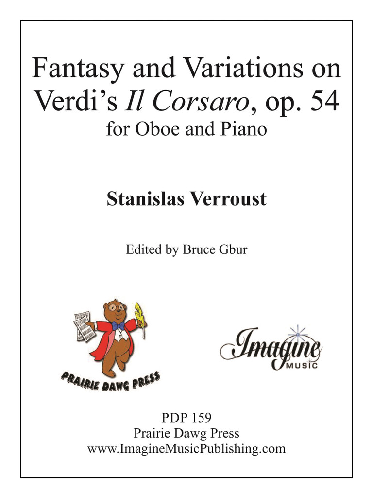 """Fantasy & Variations on Verdi's """"Il Corsaro"""" Op 54 (download)"""