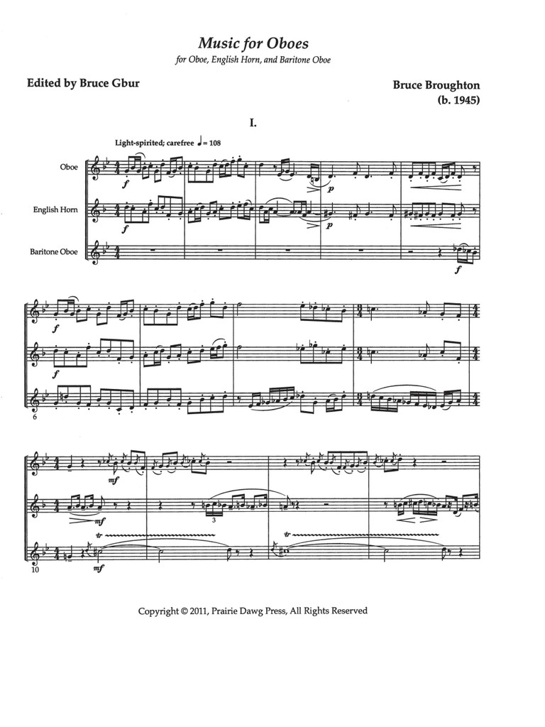Music for Oboes (download)
