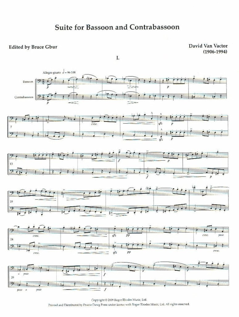 Suite for Bassoon and Contrabassoon (download)