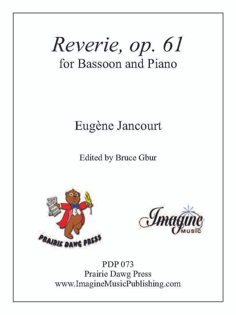 Reverie for Bassoon and Piano, op. 61 (download)