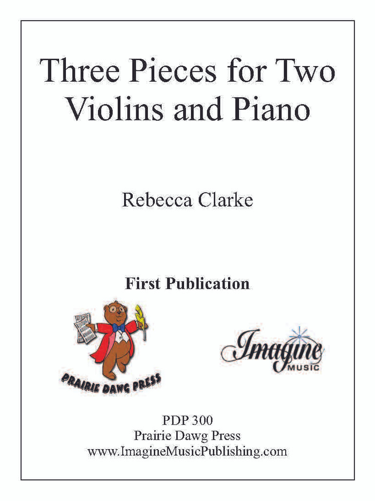 Three Pieces for Two Violins and Piano