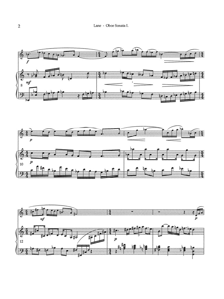Sonata for Oboe and Piano