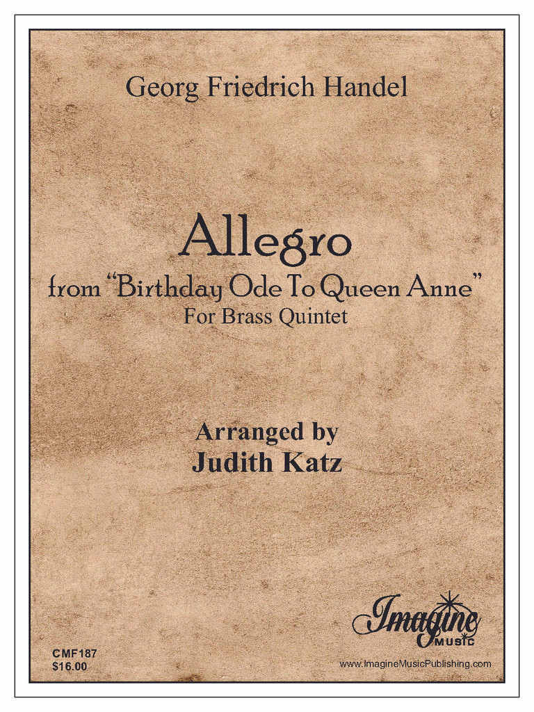 """Allegro from """"Birthday Ode To Queen Anne"""" (download)"""