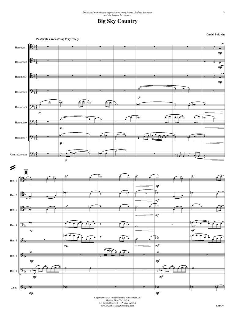 Big Sky Country (Bassoon Choir)(download)