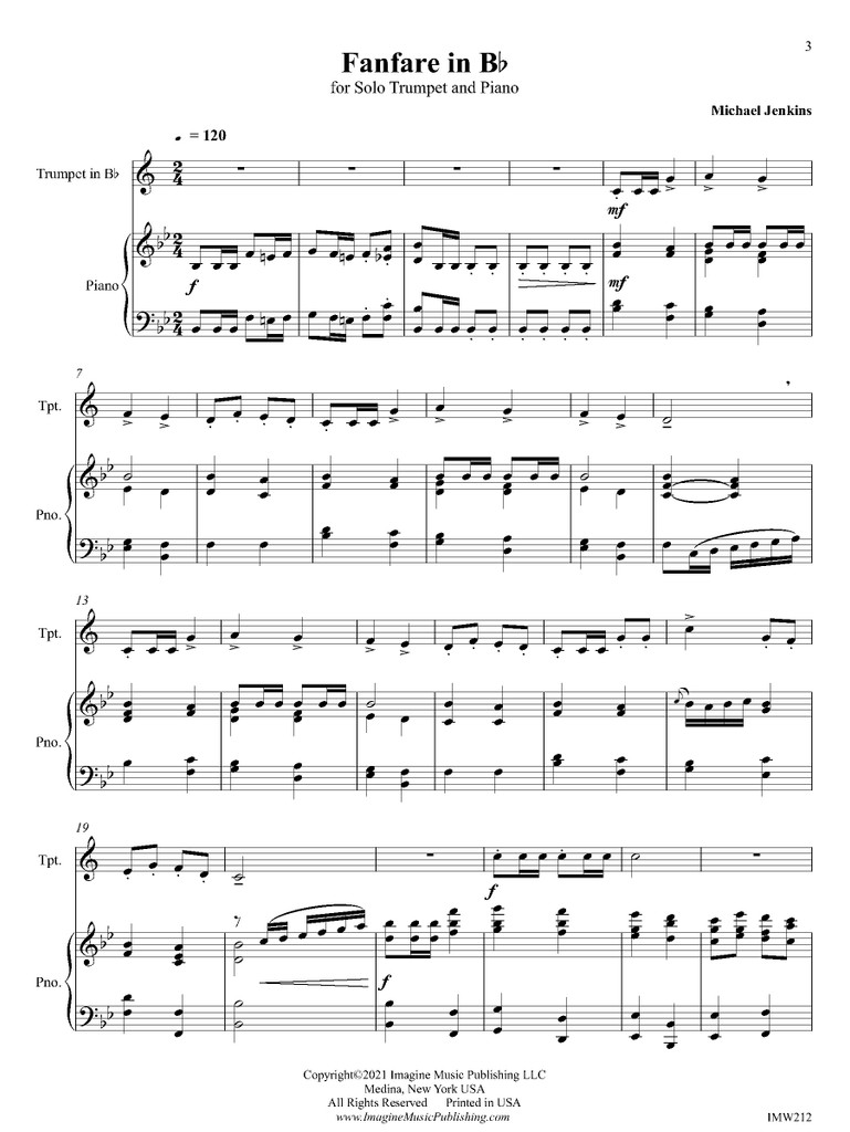 Fanfare in Bb (download)