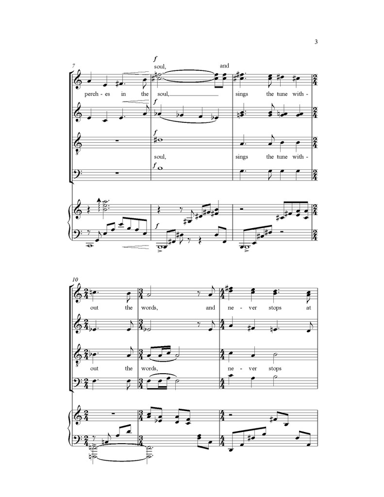 Hope Is the Thing With Feathers (SATB)