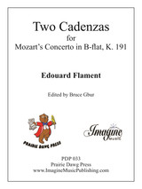 Cadenzas for the Mozart Bassoon Concerto, K. 191