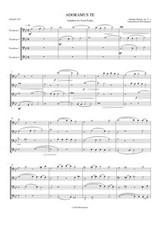 ADORAMUS TE (trombone quartet) (download)