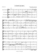 CANZON QUARTA (sax quartet)