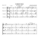 "FAIREST ISLE FROM ""KING ARTHUR"" (brass quartet)"