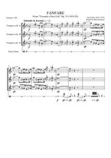 "FANFARE ""TOWARDS A NEW LIFE"" (trumpet trio) (download)"