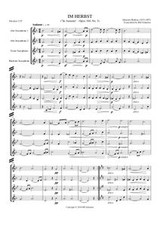 IM HERBST (sax quartet)