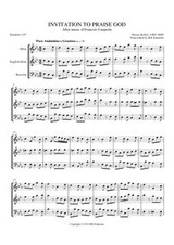 INVITATION TO PRAISE GOD (double reed trio)
