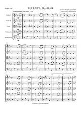 LULLABY OP 49, #4 (string quintet)