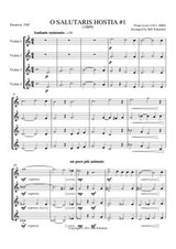 O SALUTARIS HOSTIA I (violin quartet)