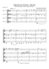 SONATA 3: FUGUE-GRAVE (Horn Quartet)